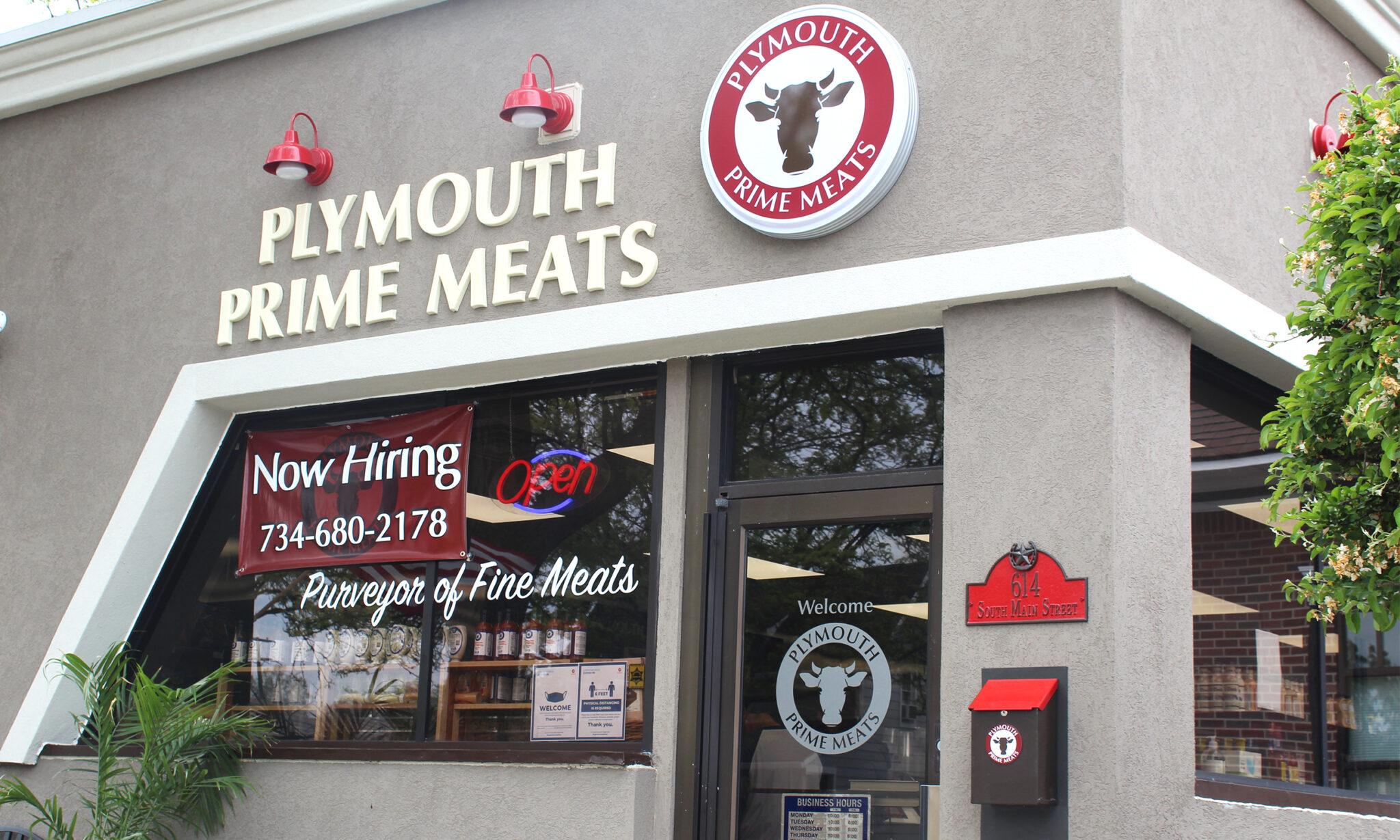 outside of plymouth prime meats building
