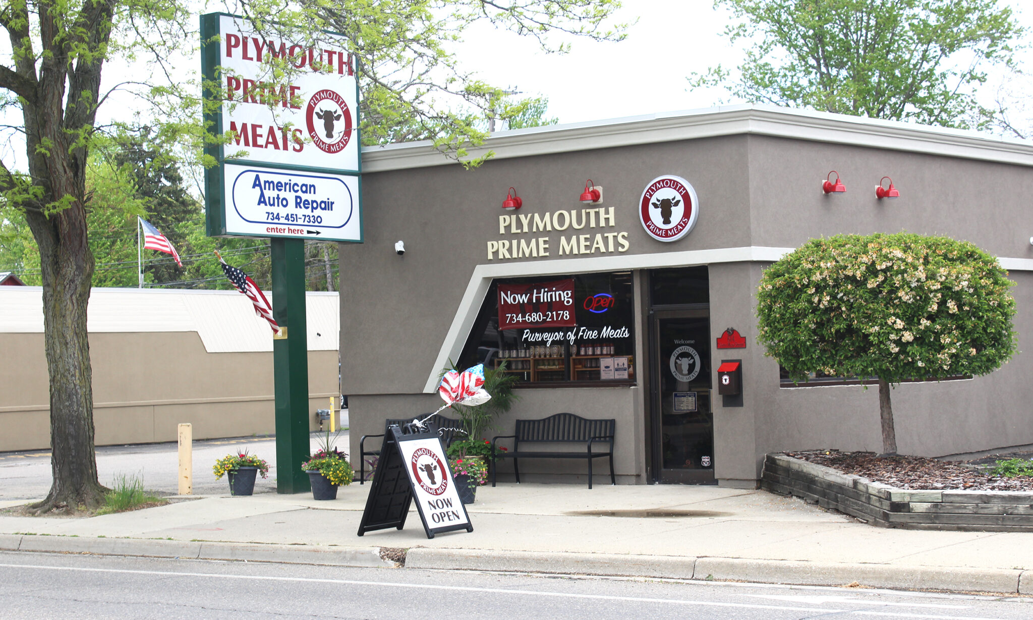 Plymouth Prime Meats building from across the street