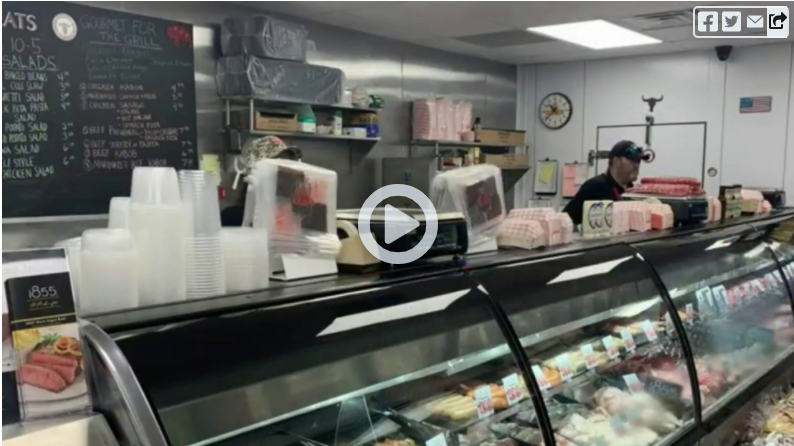video for our butcher shop's segment on Live In The D
