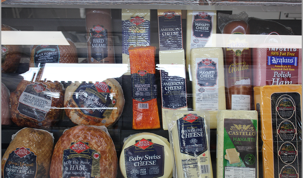 Assortment of different cheeses