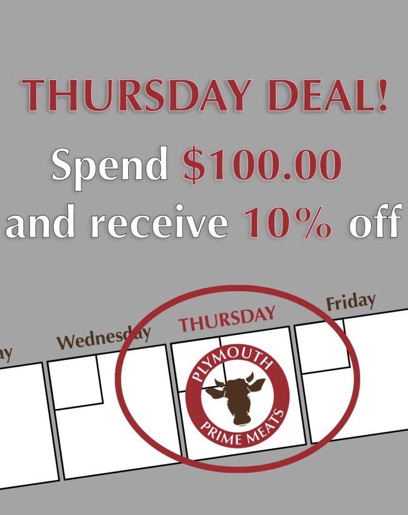 calendar with Thursday Deal