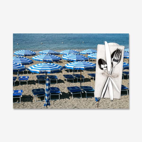 Blue Umbrellas, Monterosso, Italy