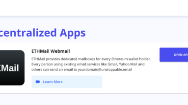 Image of Unstoppable Domains for cryptocurrency email service