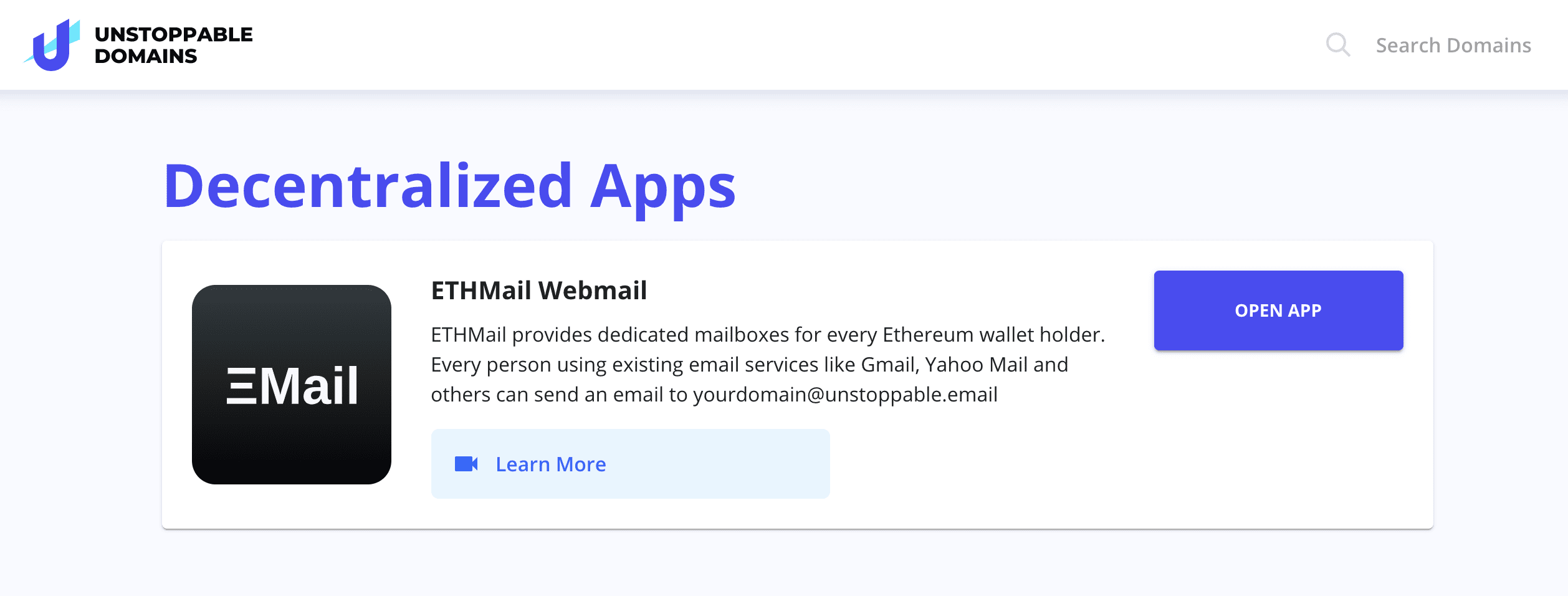 Using Unstoppable Domains Crypto Email