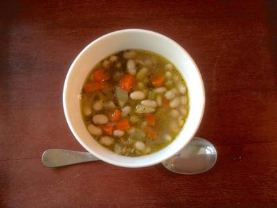 Lefki Fasolada Soup with Olive Oil