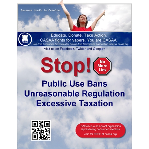 Join and Support CASAA: Consumer Advocates for Smoke Free Alternatives Association