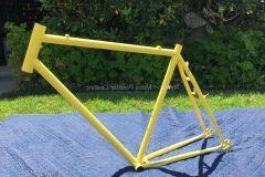 #160 Disco Ball over #40 Label Yellow Bike Frame - 017