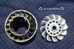 Ceramic Coating Satin Nickel - Fan and Nuts & Glacier Titanium Shroud 004