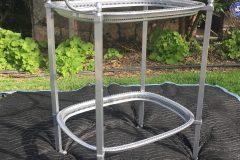 #49 Polished Aluminum - Serving Cart