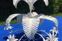#74 Kambi White - Palm Chandelier