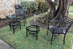 #04 Hidden Black Patio Set 2 chairs 2 sml tbls 000