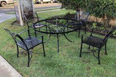 #04 Hidden Black Patio Set of 4 chairs 000