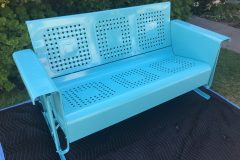 #25 Life Aquatic Green - Swing Bench 013