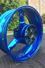 #201 Candy Blue over Chrome - Moto Rim 009