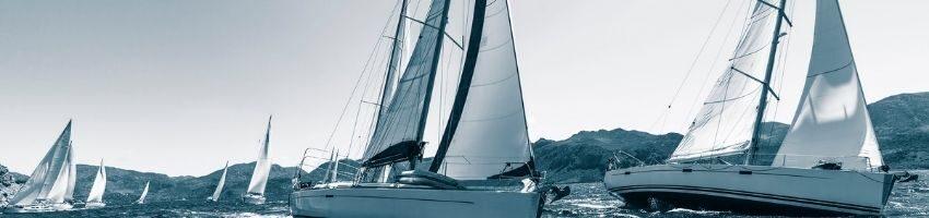 Sailing boats landspace view