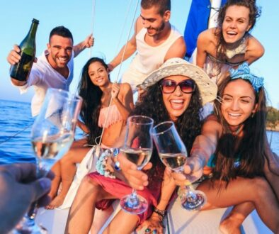 Group of young people having a Throw an Epic Yacht Party