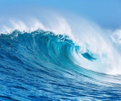 Big sea waves in the ocean