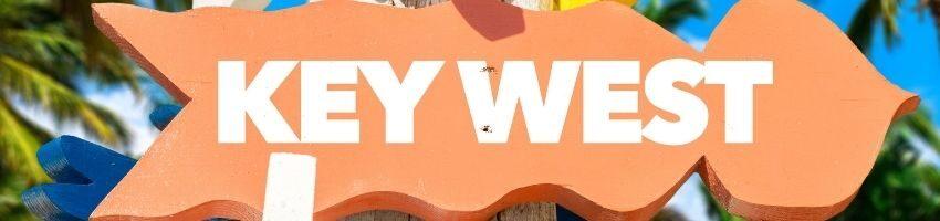 Key West sign board outside the establishment