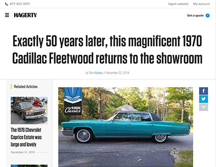 Exactly 50 years later, this magnificent 1970 Cadillac Fleetwood returns to the showroom