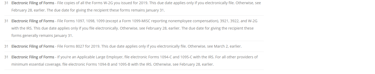 electronic filing march