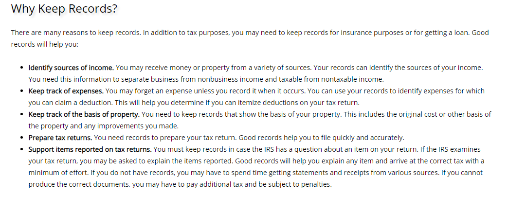 why keep records