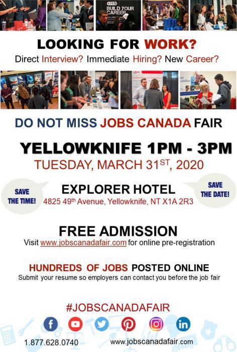 March 31/20 At Explorer Hotel –Job Fair