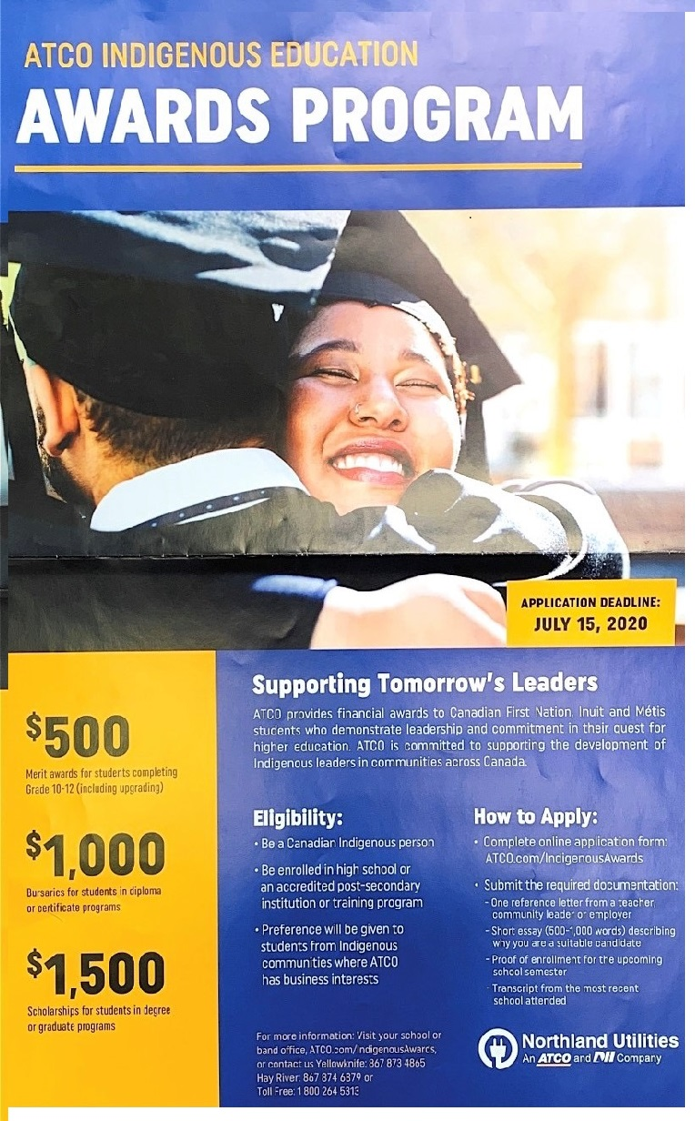 The ATCO Indigenous Education Awards Program Is Offering Scholarships To Indigenous Students Who Are Looking To Further Their Education.