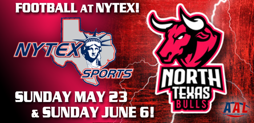 North Texas Bulls Arena Football Team Relocates to NYTEX Sports Centre