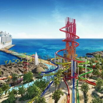 Perfect Day Island CocoCay Bahamas Aerial View of Thrill Waterpa
