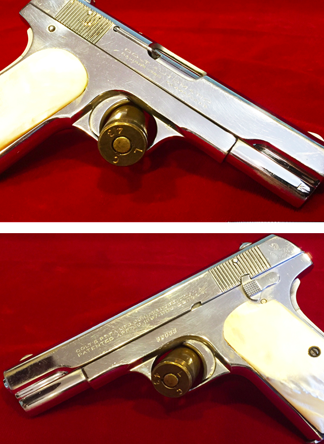 Colt 1908 Auto in .380 Caliber Mother of Pearl Grips