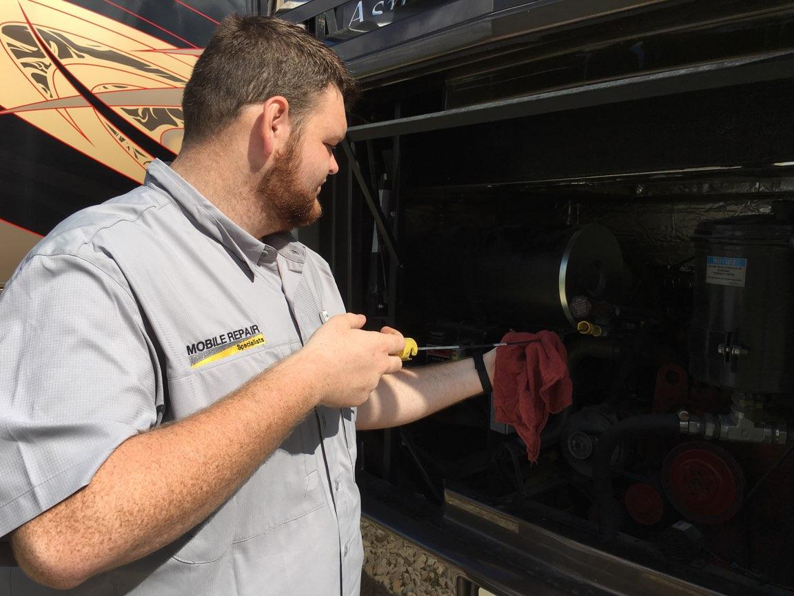 RV Services, RV Repair Fluid Analysis