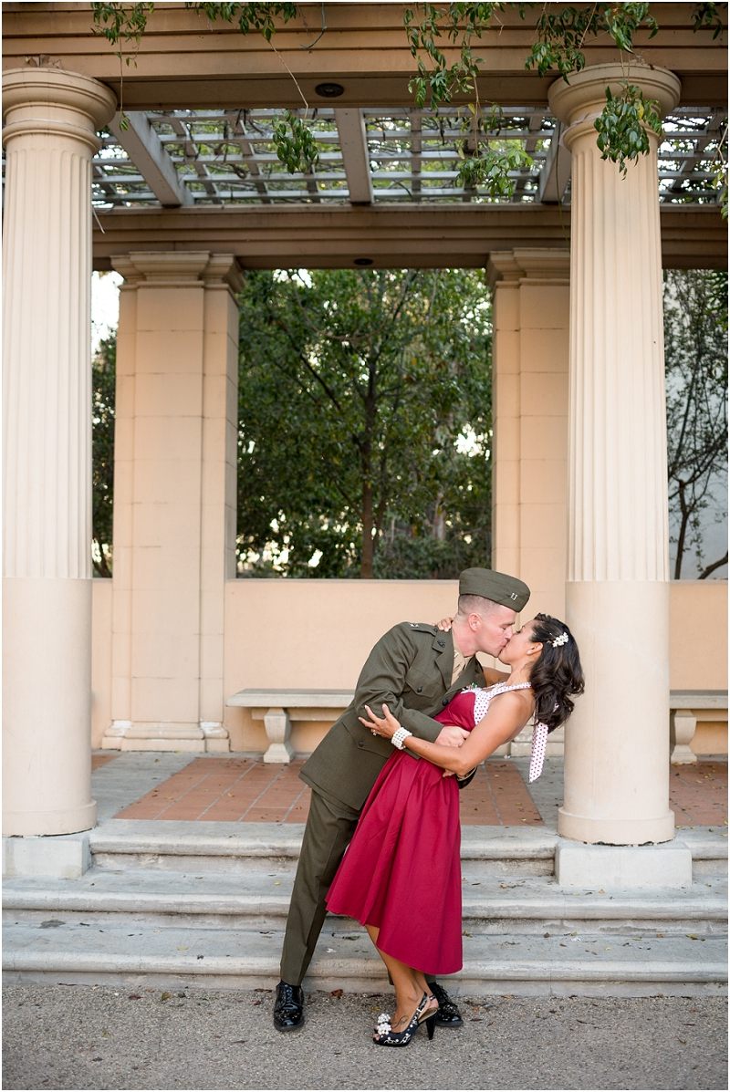 Vintage Military engagement session from San Diego wedding photographer Lauren Nygard