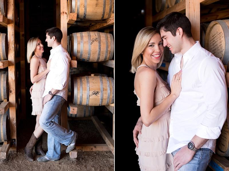 San Antonio Texas engagement session at Garrison Brothers Distillery by Texas wedding photographer Lauren Nygard