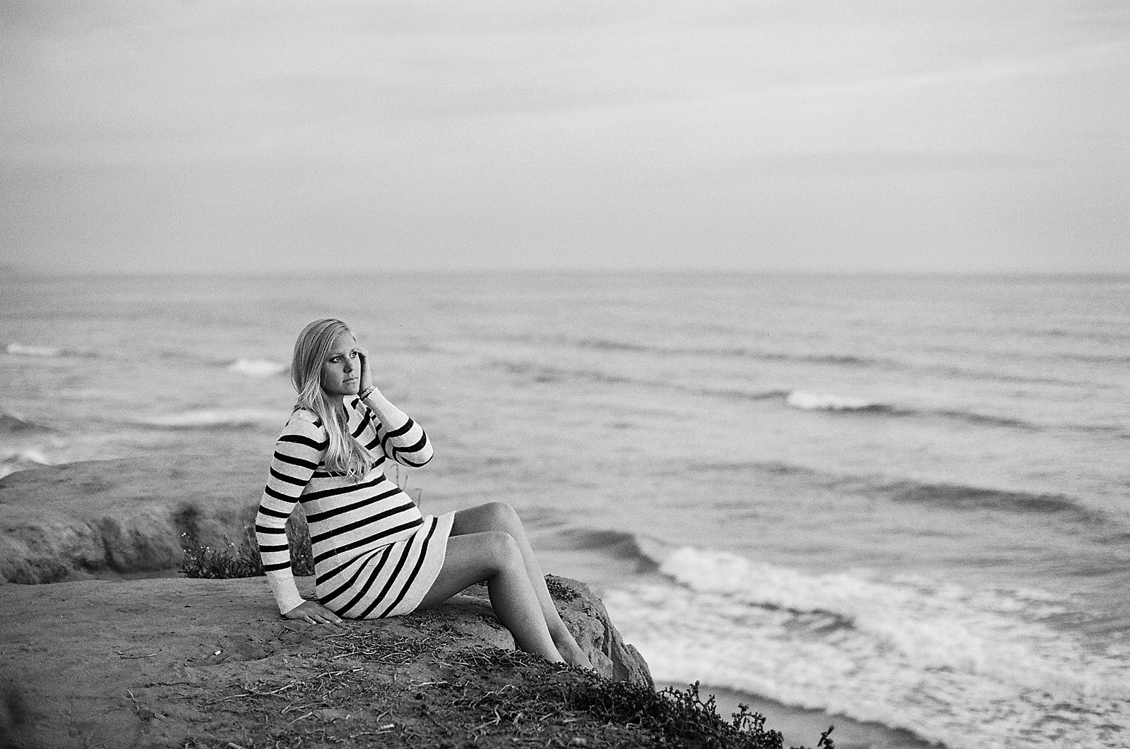 Carlsbad Beach Maternity Portrait Session