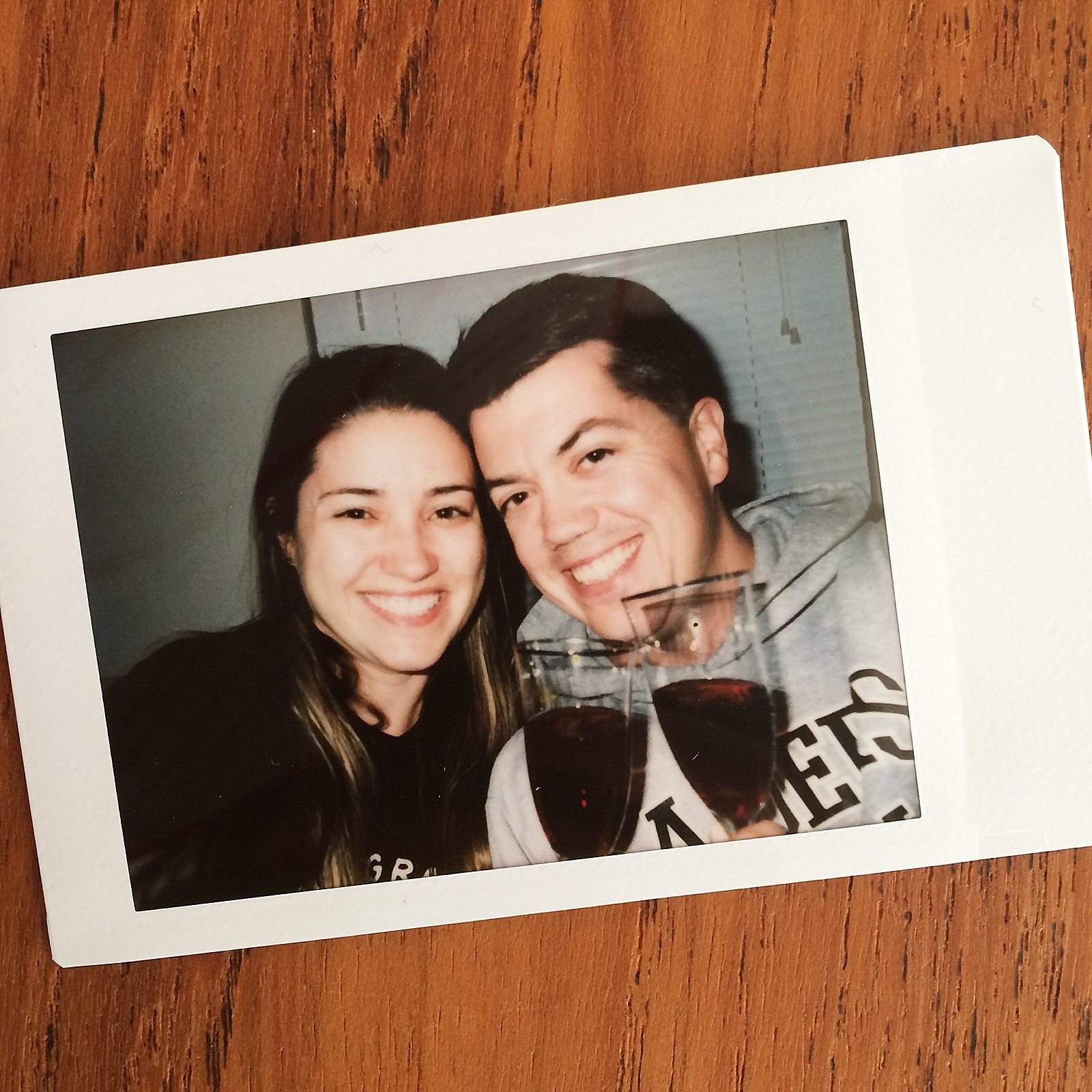 New Year's toast on Instax film