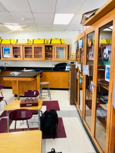 Creation of 8 science labs, including equipment, gas, water, sewage