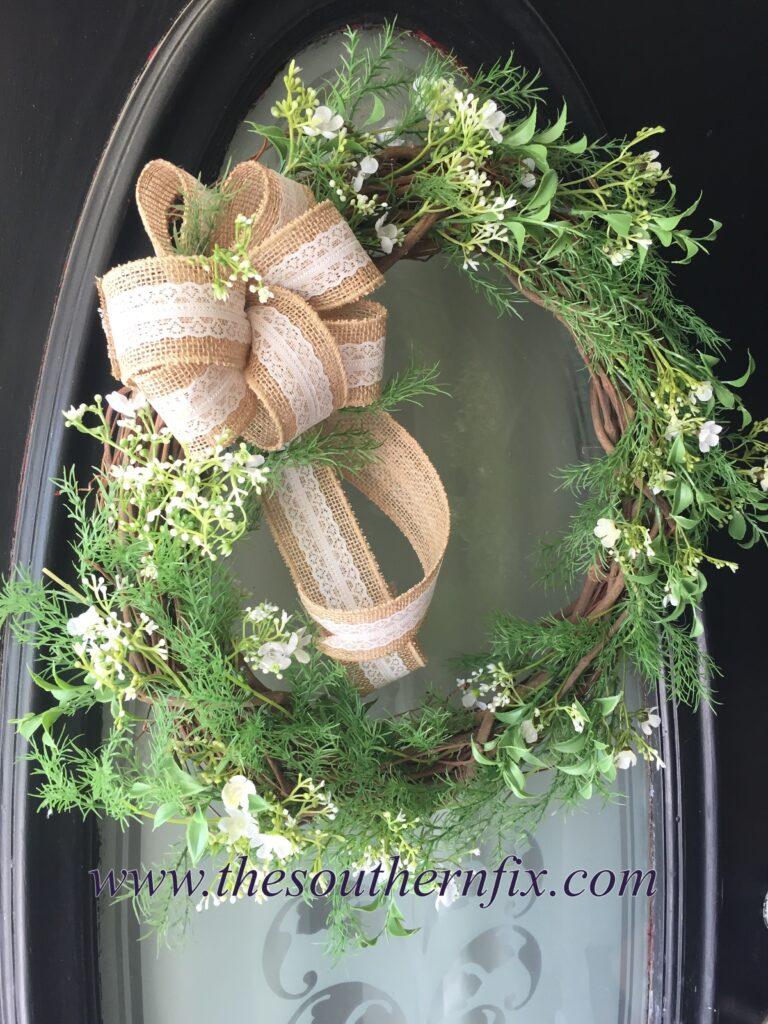 The Southern Fix Llc Southern Home Improvements Diy Farmhouse Wreath