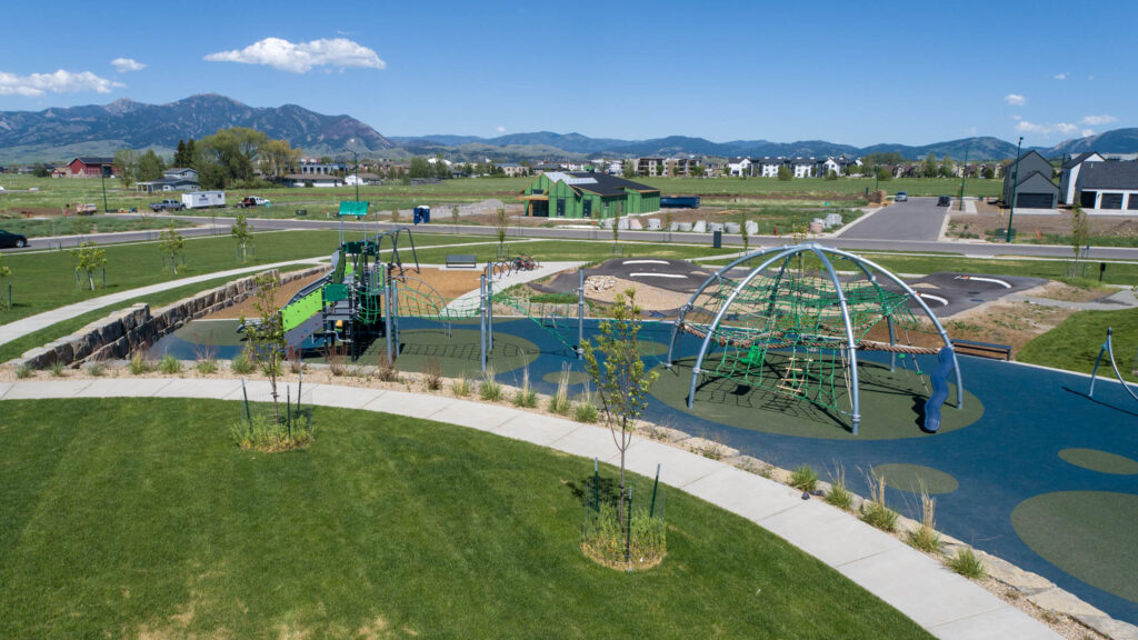 + Modern playground featuring Kompan equipment