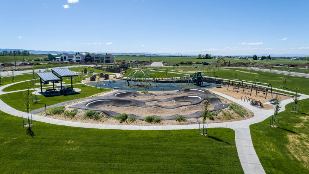 + Youth cycling pump track