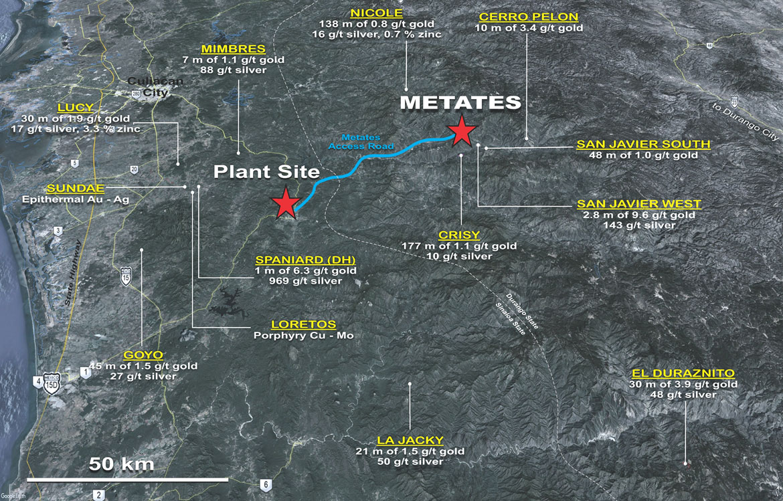 Metates-plant-site-Chesapeake-Gold-TSXV-CKG-Americas-Mexico-gold-silver-zinc-mining-stocks