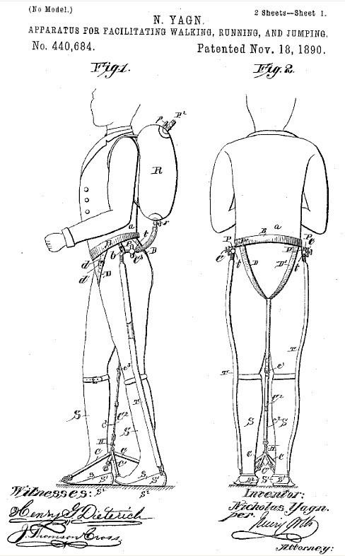 1890 Assised-Walking Device - Nicholas Yagn (Russian)