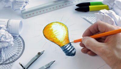 Drawing of a light blub