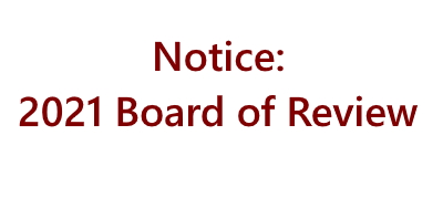 2021 Board of Review Notice