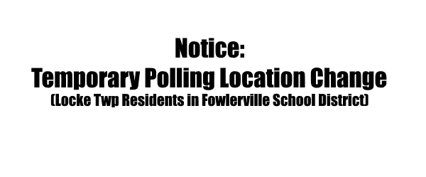 Notice of Temporary Polling Location Change