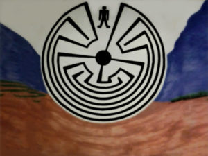 """The """"Man in the Maze"""" mural"""