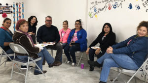 Chiricahua Mobile Clinic staff sit down with SEAHEC staff/CHWs and community stakeholders