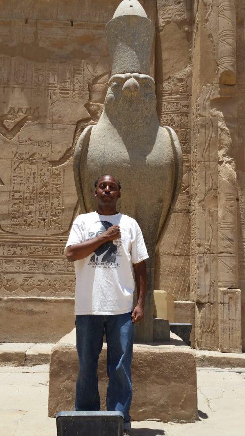 Statue of Heru at Edfu temple