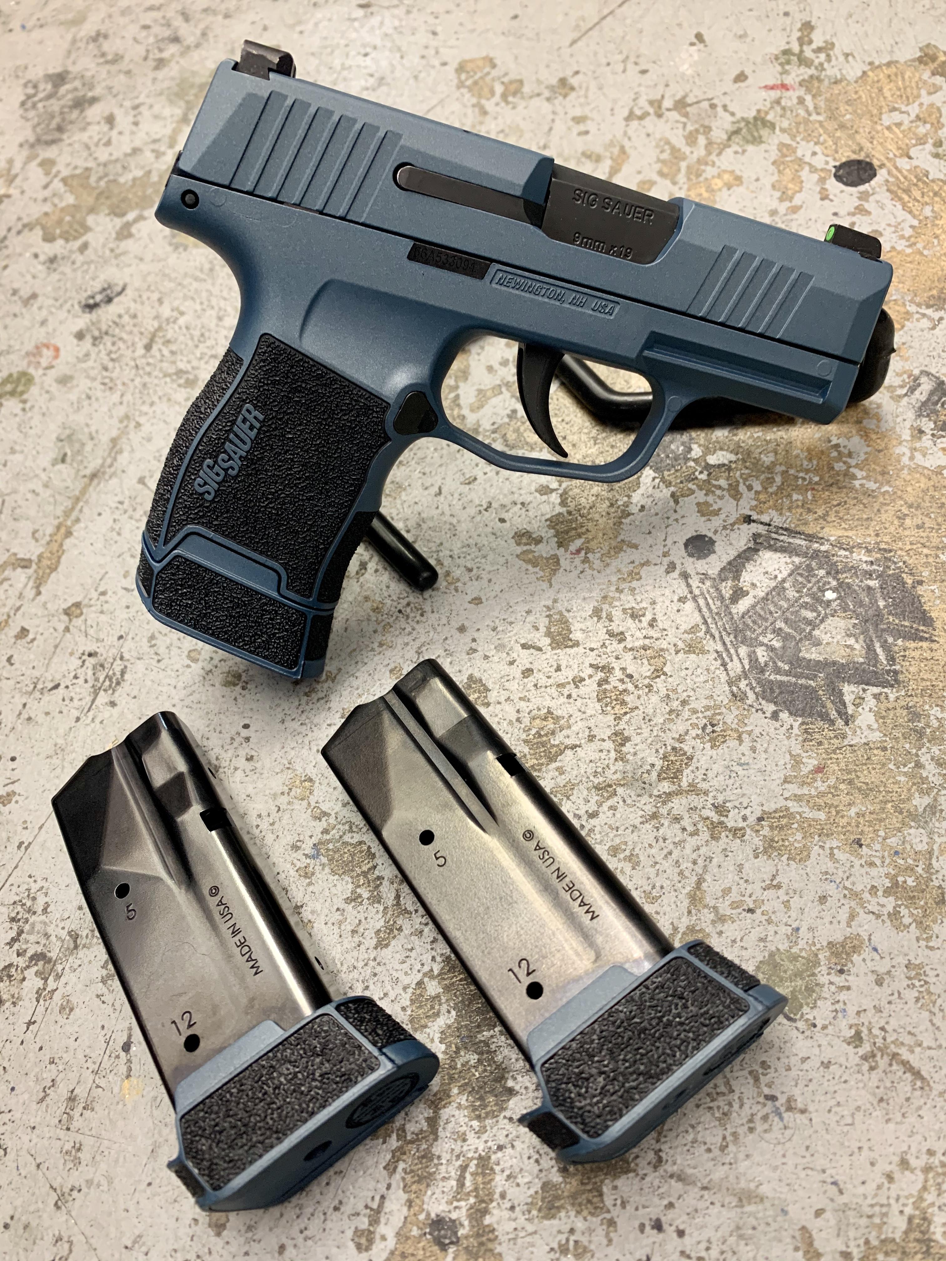 SigSauer Blue Pistol