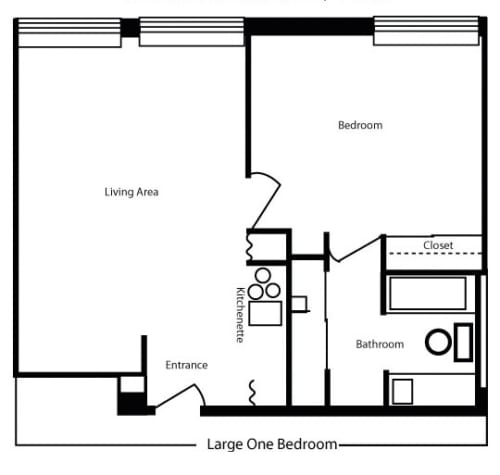 Large 1 Bedroom/1Bath