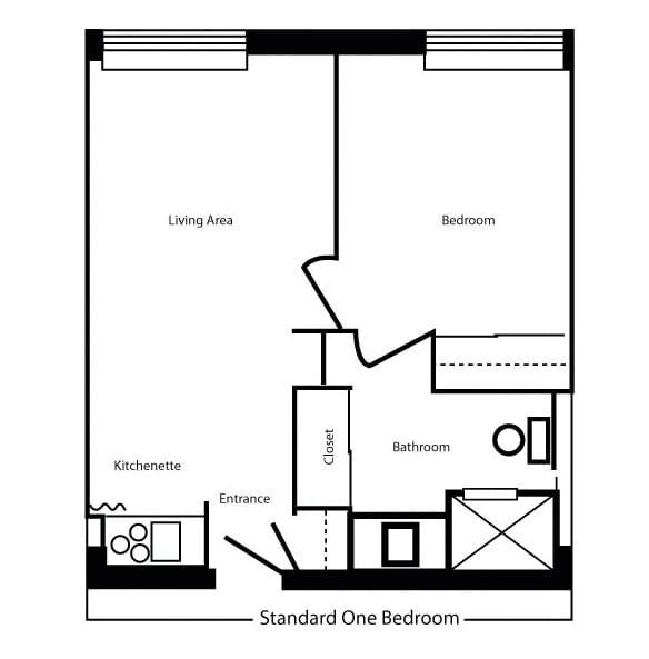 Standard 1 Bedroom/1 Bath